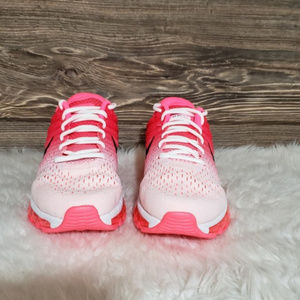 New Nike Air Max 2017 White Pink Ombre Sneakers NWT